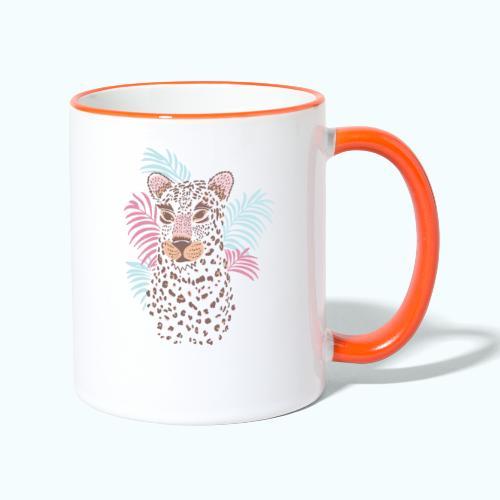 80s Pastel Color Cat - Contrasting Mug