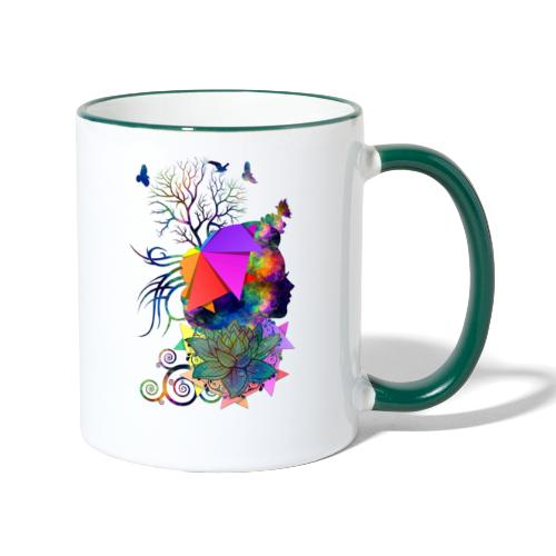 Lady Colors by T-shirt chic et choc - Mug contrasté