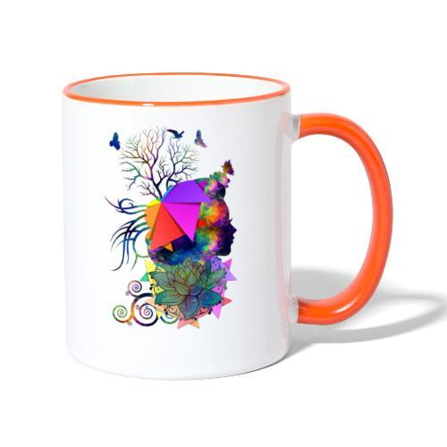 Lady Colors by T-shirt chic et choc - Mug contrasté