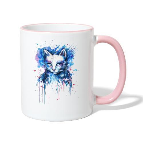 Gatito adorable - Taza en dos colores