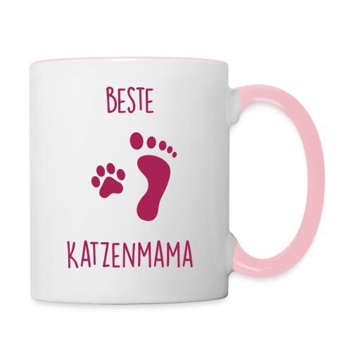 Vorschau: Beste Katzenmama - Tasse zweifarbig