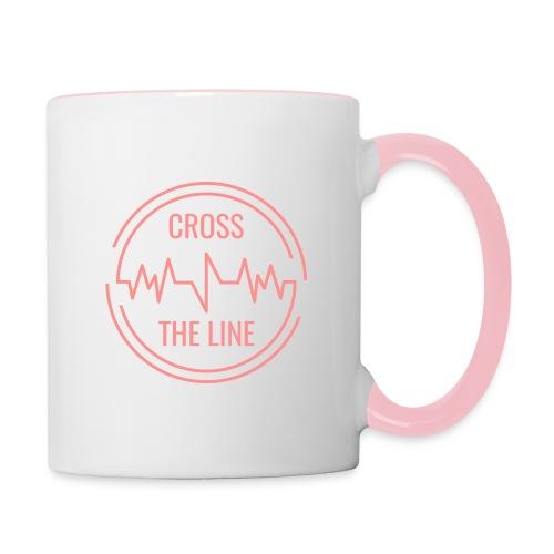 CROSS THE LINE - Mug rose - Mug contrasté