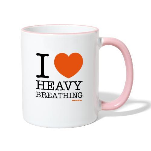 I ♥ Heavy Breathing - Contrasting Mug