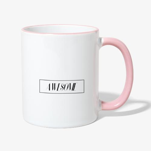 AWESOME - Tasse zweifarbig