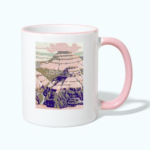 Rocky Mountains Vintage Travel Poster - Contrasting Mug