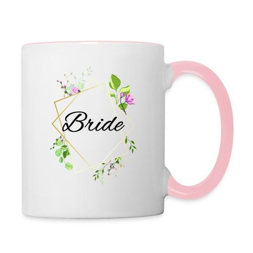 Braut - Tasse zweifarbig