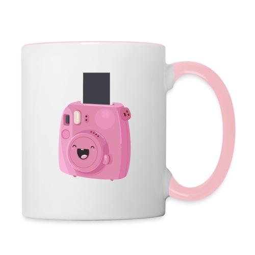 Appareil photo instantané rose - Mug contrasté
