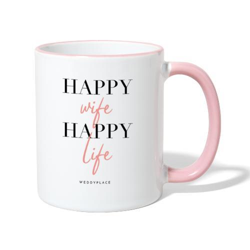 Happy Wife Happy Life - Tasse zweifarbig