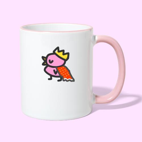 Royal Pinkguin - Tofarvet krus