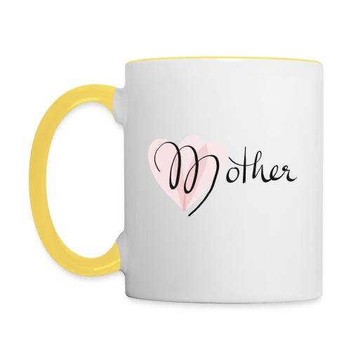 Mother Rose Herz Mutter - Tasse zweifarbig
