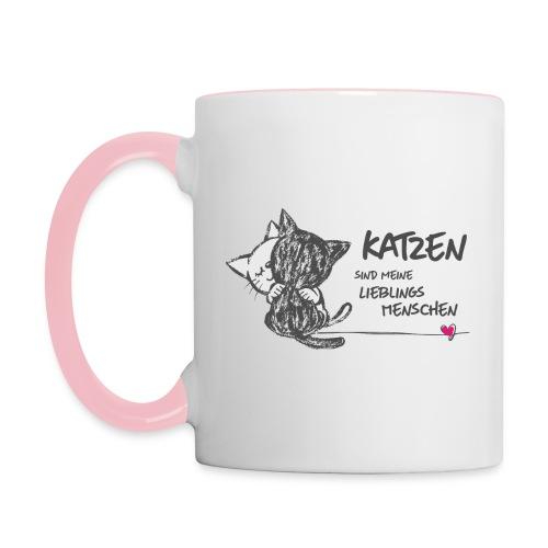 Vorschau: Katzen Lieblingsmenschen - Tasse zweifarbig