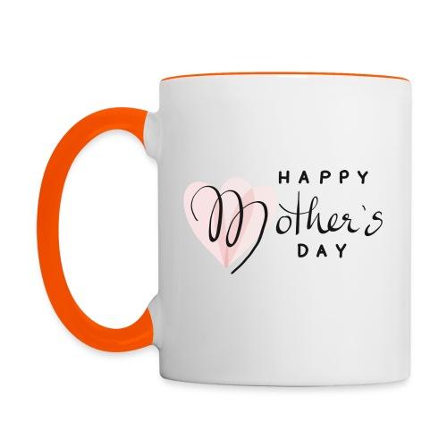 Happy Mothers Day - Tasse zweifarbig