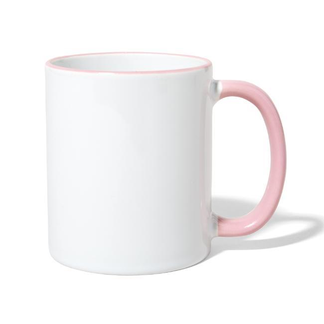 Vorschau: Bei da Mama schmeckts am bestn - Tasse zweifarbig