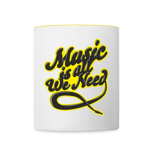 Music Is All We Need - Contrasting Mug
