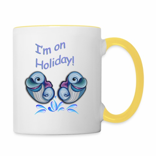 I'm on holliday - Contrasting Mug