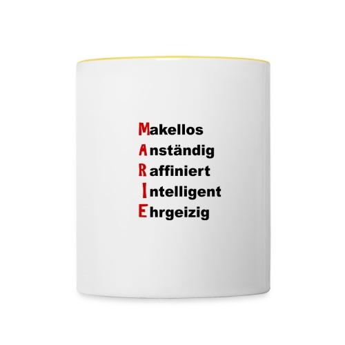 Frauenname mit Charaktereigenschaften: Marie - Tasse zweifarbig