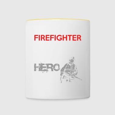 Cuerpo de bomberos voluntario de regalo héroe de fuego - Taza en dos colores