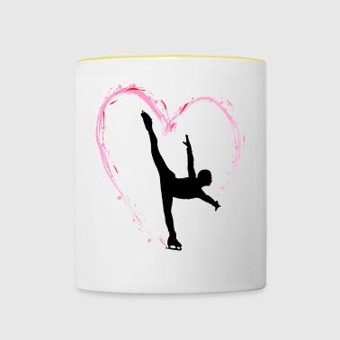 Eiskunstlauf Schlittschuhlauf Eis Figuren Tanz - Tasse zweifarbig