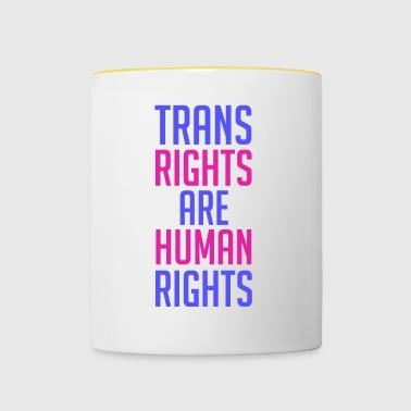 Prawa trans to prawa człowieka - Kubek dwukolorowy