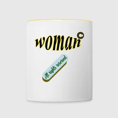 prawa kobiet - Kubek dwukolorowy