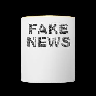 FAKE NEWS - Kubek dwukolorowy