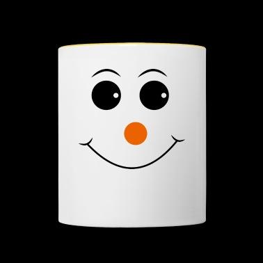 Smiley met rode neus - Mok tweekleurig