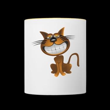 Cheshire Cat pomysł na prezent dla dzieci i dziewczynek - Kubek dwukolorowy