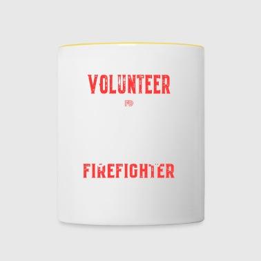 Regalos bombero voluntario - Taza en dos colores