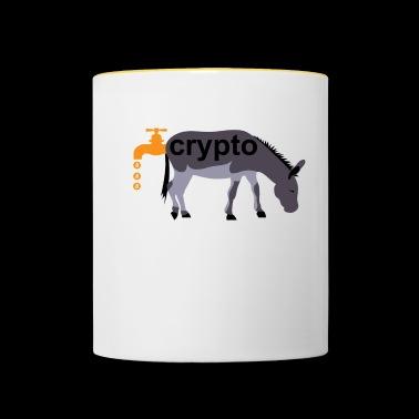 Bitcoin krypto waluty osła - Kubek dwukolorowy