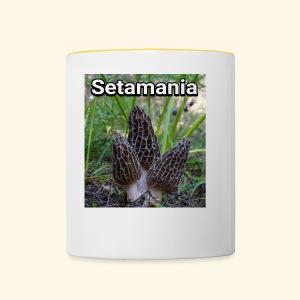 Colmenillas setamania - Taza en dos colores