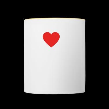 I Love Love bęben bongo png - Kubek dwukolorowy