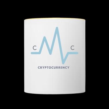 Crypto projekt waluty - Kubek dwukolorowy