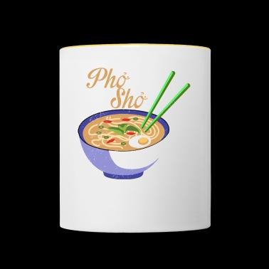 Linda Pho Sho comida vietnamita camiseta - Taza en dos colores