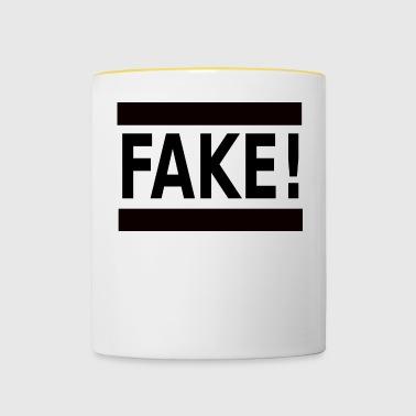 FAKE! - Kubek dwukolorowy