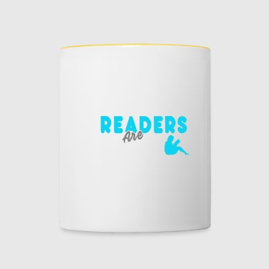 Cool Readers are Leaders T-shirt - Tasse zweifarbig