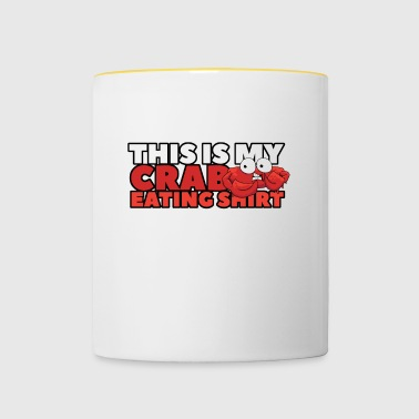 this is my crab eating shirt - Contrasting Mug