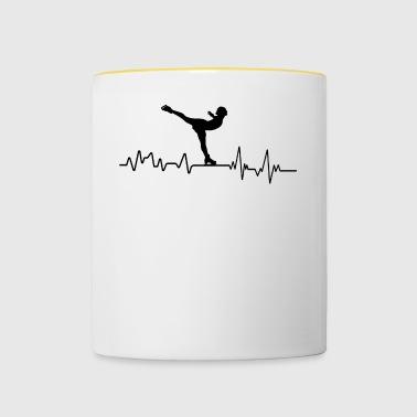 Heartbeat Eiskunstlauf T-Shirt Sport Winter - Tasse zweifarbig