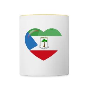 Mi corazón es de Guinea Ecuatorial - Taza en dos colores