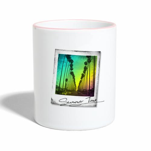 Summer Time - Contrasting Mug