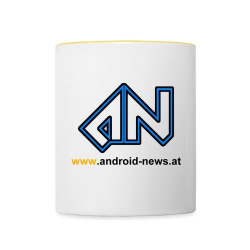 Android News Schwarz - Tasse zweifarbig