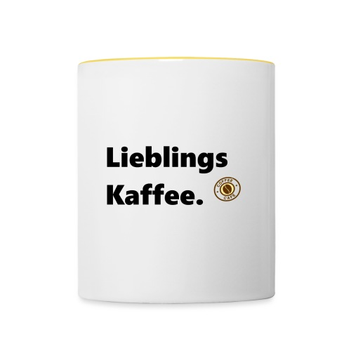 Lieblingskaffee1 - Tasse zweifarbig