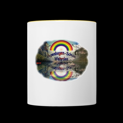 Regenbogen Schule - Tasse zweifarbig