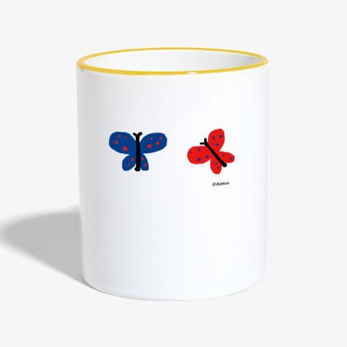 Perhoset - Kaksivärinen muki