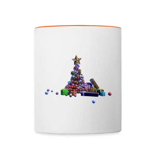 Sapin de Noël et cadeaux - Mug contrasté