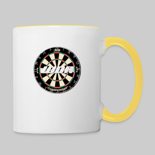 wda dartboard logo - Contrasting Mug