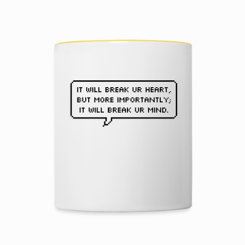 Inspiring sentence - Mug contrasté