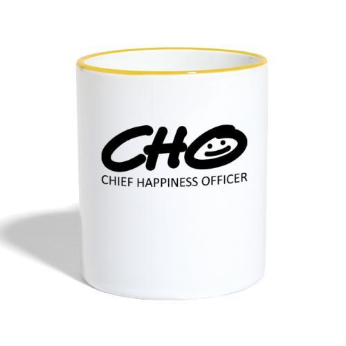 Chief Happiness Officer - Tasse zweifarbig