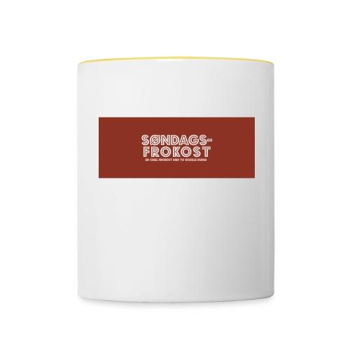Kaffekopp - Tofarget kopp