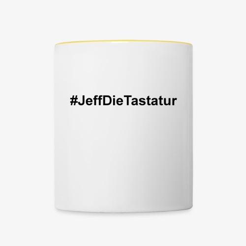 hashtag jeffdietastatur schwarz - Tasse zweifarbig