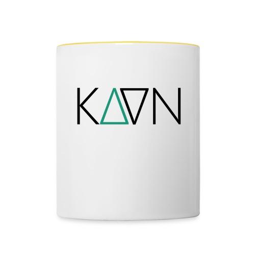 kaan logo 1600px - Tasse zweifarbig